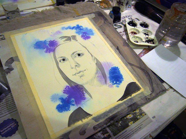 blue_portrait_painting_ellimaanpaa_2014