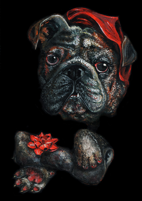 Elli Maanpää Art - Royal Animal Portrait: Bulldog - 21cm x 29cm - 2016
