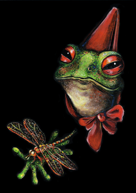 Elli Maanpää Art - Royal Animal Portrait: Frog - 21cm x 29cm - 2016