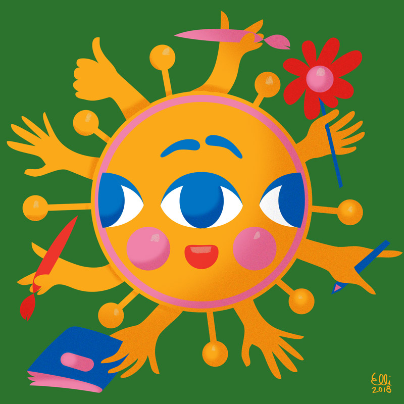 Sun - Illustration - Elli Maanpää Art - 2018