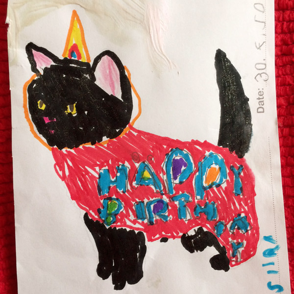Birthday card from my goddaughter // What I've learned //Elli Maanpää Blog 2018
