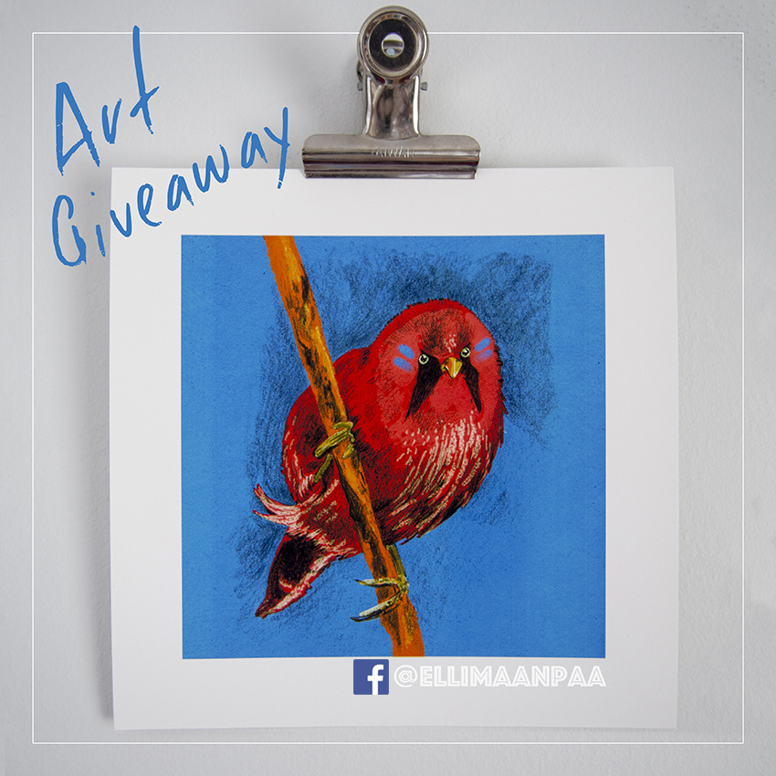 Art Giveaway in Facebook // Elli Maanpää Art Blog 2018
