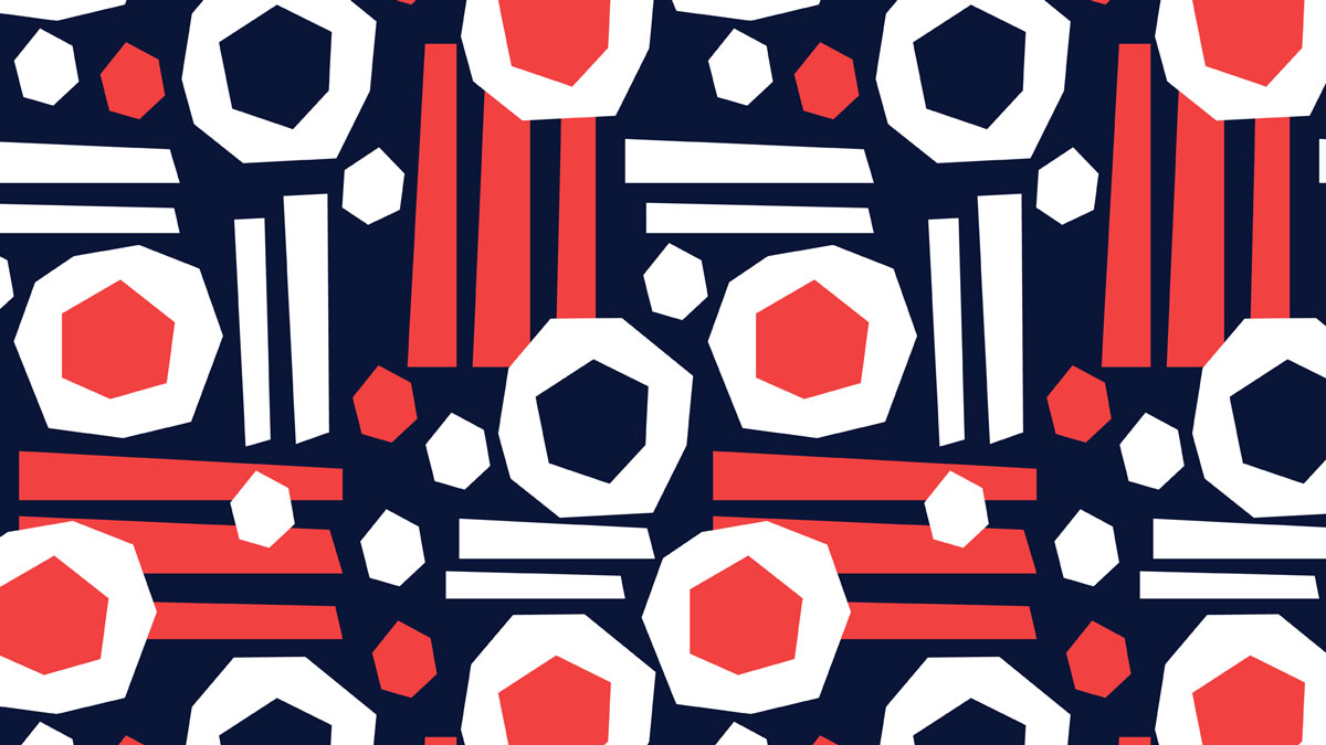 Retro Sushi -pattern. Available as fabric in my Spoonflower shop @ellimaanpaa