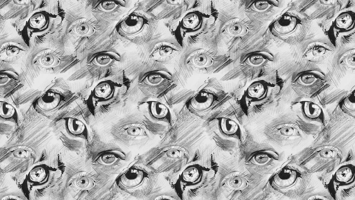 All Eyes On You -pattern for Halloween. Available soon as fabric in my Spoonflower shop @ellimaanpaa